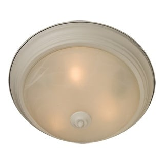 Marble Shade 3-light White Essentials 584x Flush Mount Light