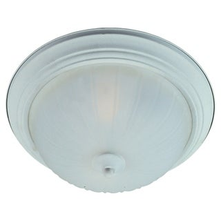 3-light Frosted Shade White Essentials 583x Flush Mount Light