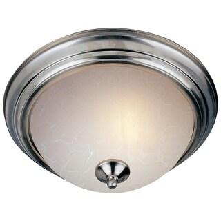 Maxim Ice Shade 3-light Nickel Essentials 584x Flush Mount Light