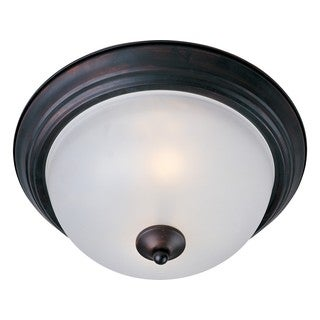 Frosted Shade 3-light Bronze Essentials 584x Flush Mount Light