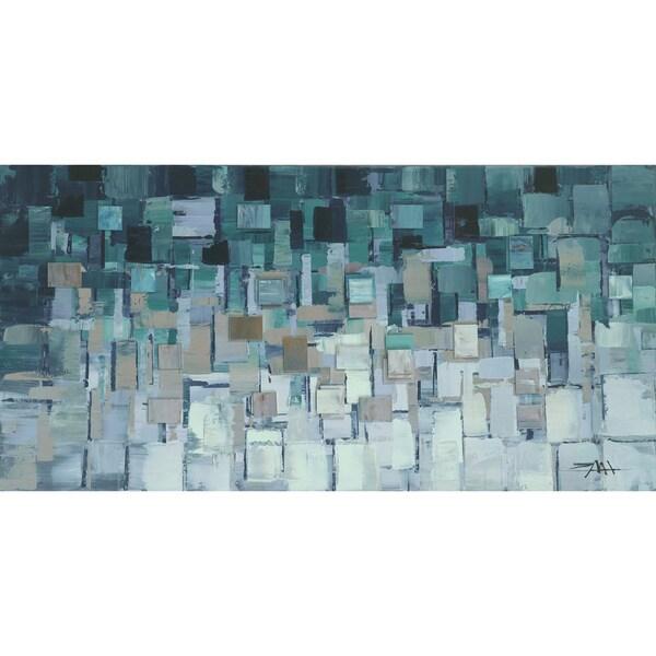 Aurelle Home Wall Decor Teal Square Canvas Art 16974453
