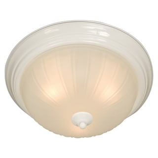 Frosted Shade 3-light White Essentials 583x Flush Mount Light
