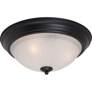 Maxim Ice Shade 2-light Black Essentials 584x Flush Mount Light