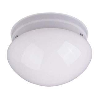 Flush Mount White Shade 1-light White Essentials 588x Light