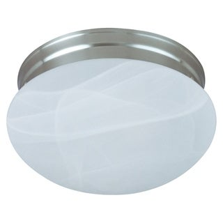 Marble Shade 1-light Nickel Essentials 588x Flush Mount Light