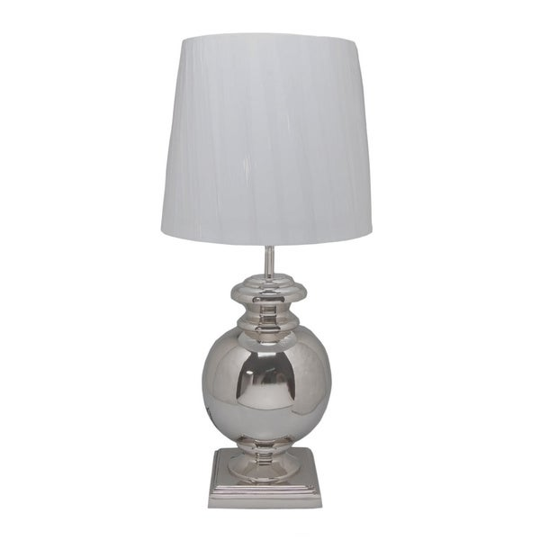 Aurelle Home 1-light White Table Lamp