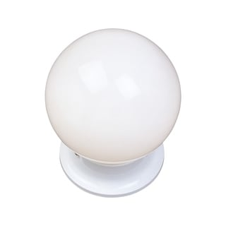 White Shade 1-light White Essentials 588x Flush Mount Light