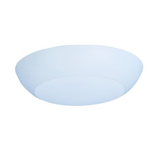 Shade 1-light White Diverse LED Flush Mount Light