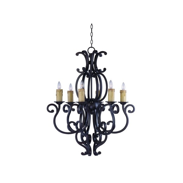 6-light Richmond Single Tier Chandelier