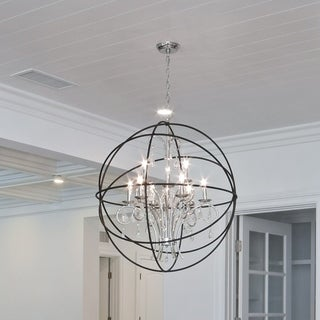 6-light Bronze Orbit Single Tier Chandelier