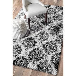 nuLOOM Modern Radiante Washed Black/White Rug (5' x 8')