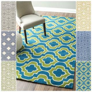 nuLOOM Handmade Geometric Savanna Wool Rug (8'6 x 11'6)