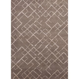 Hand-tufted PM62 Brown/ Yellow Area Rug (2' x 3')