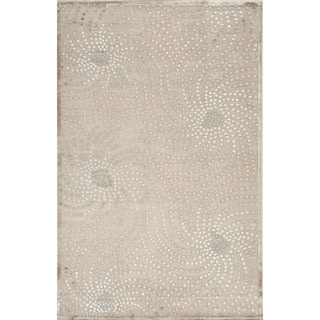 Machine Made Abstract Pattern Brown/Blue (7.6x9.6) - FB05 Area Rug