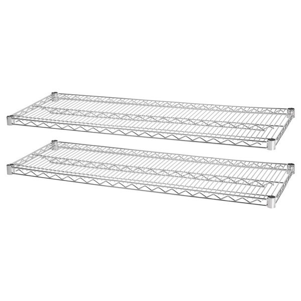 Lorell Indust Wire Shelving Chrome Starter Extra Shelves