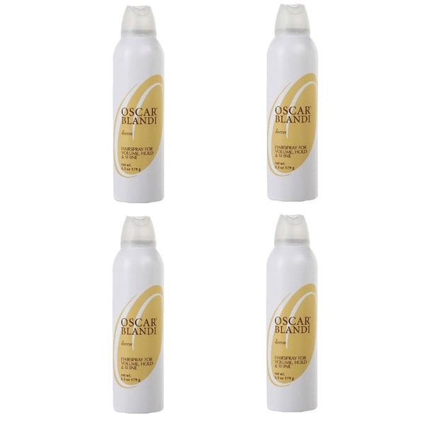 Oscar Blandi Lacca 6.3-ounce Hairspray for Volume, Hold & Shine (Pack of 4)
