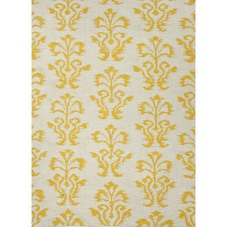 Flat-Weave Tribal Pattern Ivory/Yellow (5x8) - UB14 Area Rug