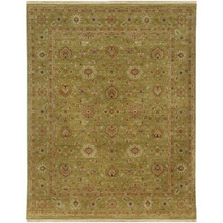 Hand Knotted Oriental Pattern Green (6X9) -BS11 Area Rug