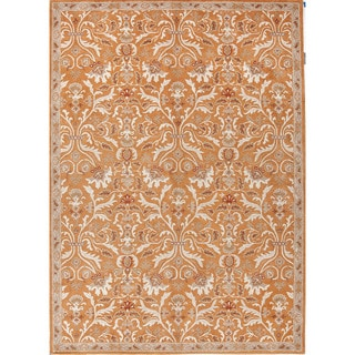 Hand-Tufted Oriental Pattern Orange/Ivory (9.6x13.6) - PM33 Area Rug