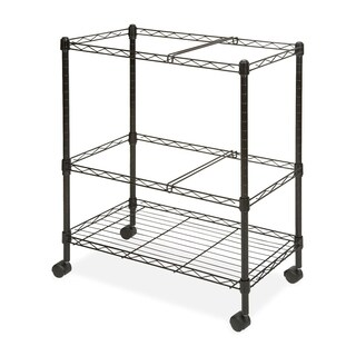 Black Lorell Mobile Wire File Cart