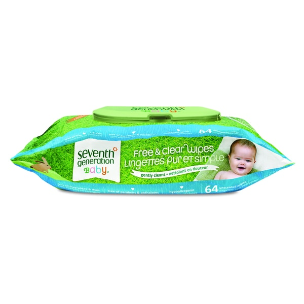 Seventh Generation Hypoallergenic Natural Baby Wipes