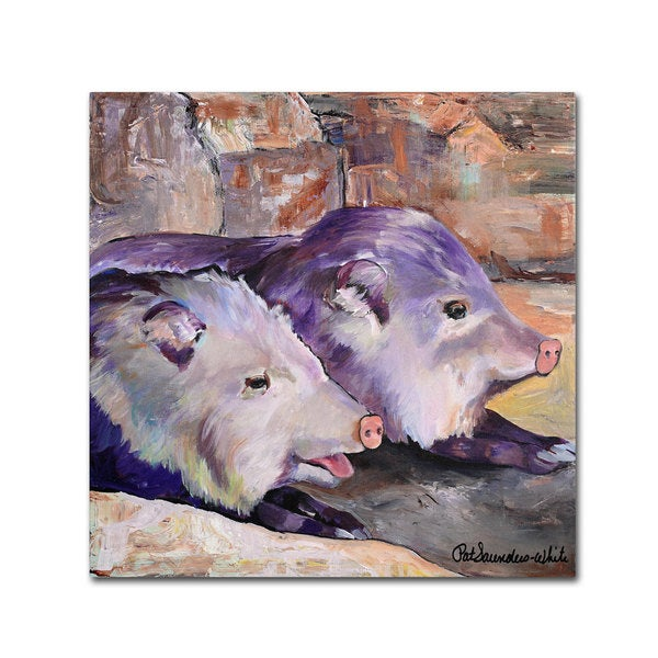 Pat Saunders-White 'High Noon Siesta' Canvas Art