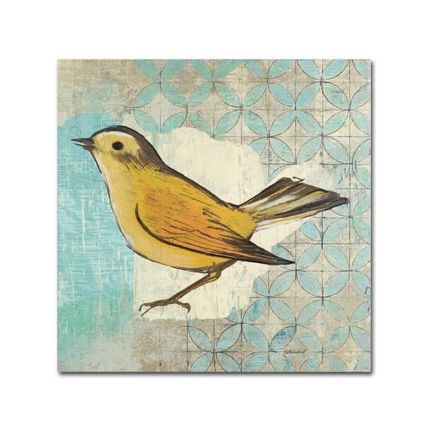 Kathrine Lovell 'Wilson Warbler II' Canvas Art