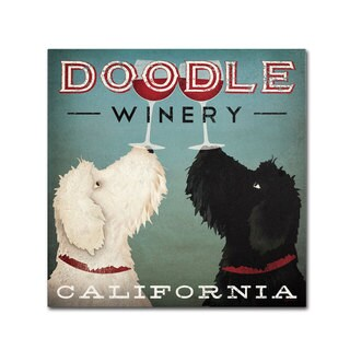 Ryan Fowler 'Doodle Wine' Canvas Art