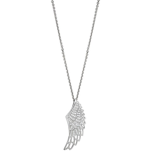 Sterling Silver Micropave Cubic Zirconia Wing Pendant
