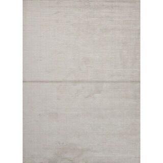 Handloom Solid Pattern Ivory/White (9x12) - BI10 Area Rug