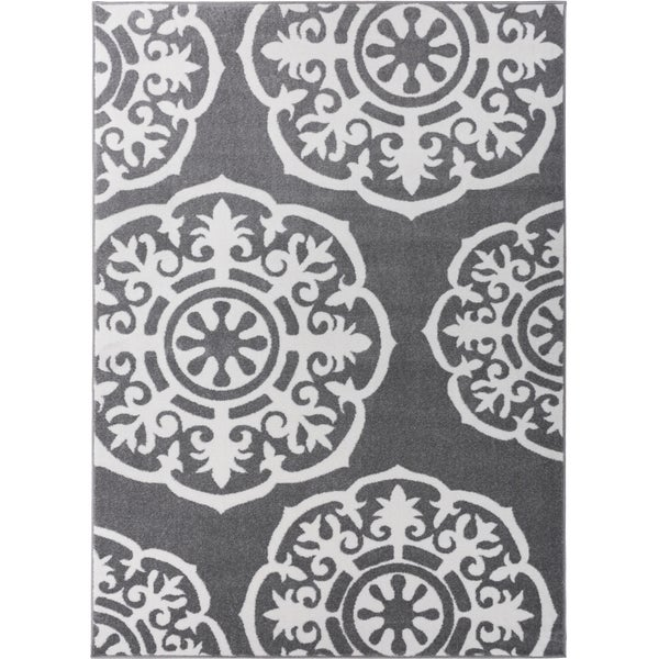 Shades of Grey Suzzani Bold Grey Rug