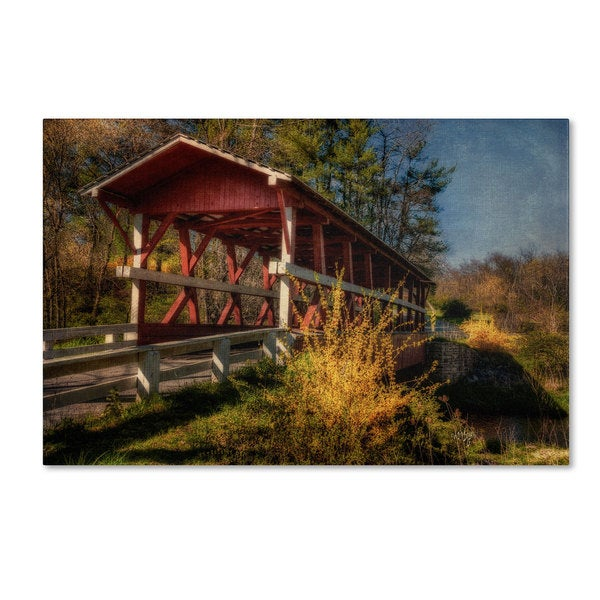Lois Bryan 'Crossing Shawnee Creek' Canvas Art