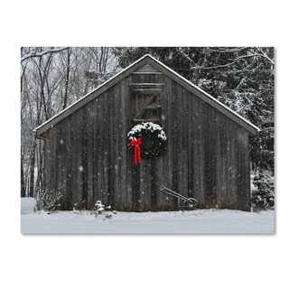 Kurt Shaffer 'Christmas Barn in the Snow' Canvas Art