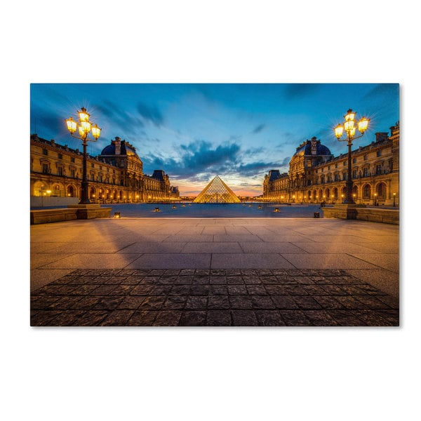 Mathieu Rivrin 'Blue Hour from the Louvre' Canvas Art