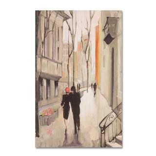 Julia Purinton 'Village Promenade Neutral' Canvas Art