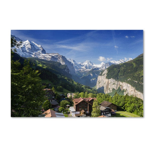 Philippe Sainte-Laudy 'A New Day in the Swiss Alps' Canvas Art