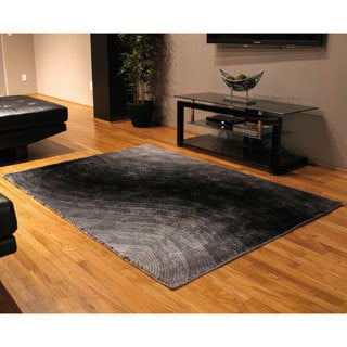 Blazing Needles 5-foot by 7-foot Vibrating Light Gradated Shag Rug