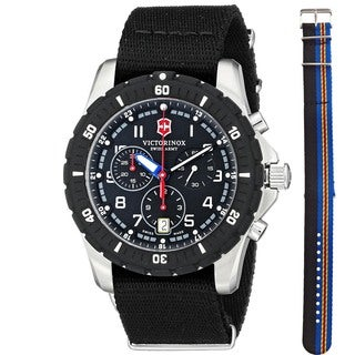 Victorinox Swiss Army Men's 241678.1 'Maverick Sport' Chronograph Extra Strap Black Nylon Watch