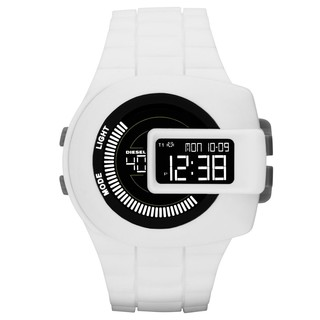 Diesel Men's DZ7275 'Vie Finder' Digital White Rubber Watch