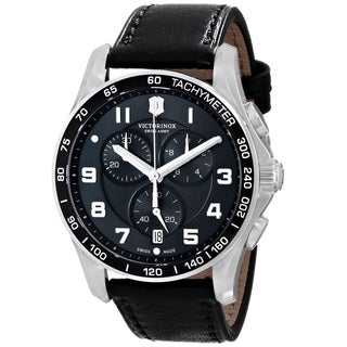 Victorinox Swiss Army Men's 241651 'Infantry Classic' Chronograph Black Leather Watch