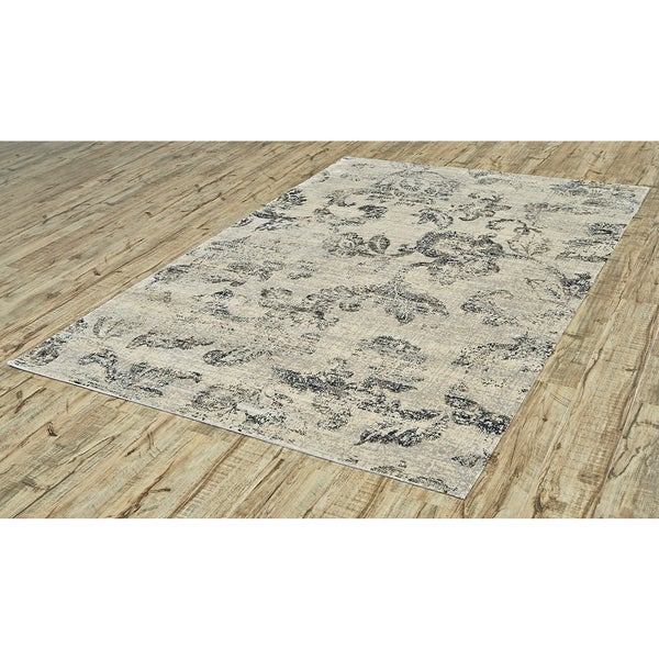 Grand Bazaar Chantal Ecru Mink Ivory/ Cream Area Rug (9'2 x12'2)