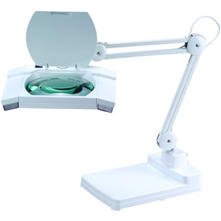 Artiva USA 31-inch Heavy-duty White Fluorescent Magnifying Table Lamp