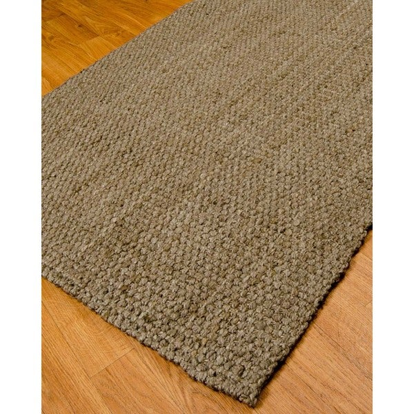 Natural Area Rugs Hand-woven Richmond Brown Jute Rug (6' x 9')