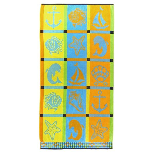 Celebration Velour Sea Creatures Beach Towels (Set of 2)