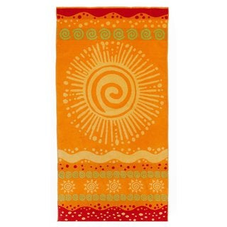 Celebration Velour Sunshine Beach Towels (Set of 2)