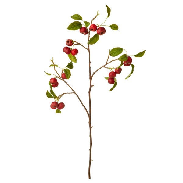 Red Crab Apple Branch (Set of 2)