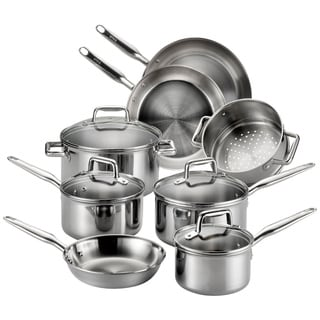 T-Fal Tri-Ply Stainless Steel 12-piece Cooking Set