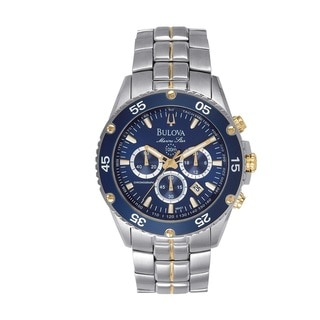 Bulova Men's 98H37 Stainless Steel Marine Star Chronograph Watch