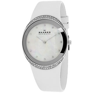 Skagen Women's 452LSLW Classic Round White Strap Watch