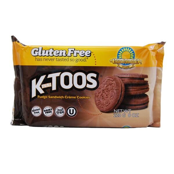 Kinnikinnick KinniToos Gluten-free Fudge Sandwich Creme Cookies (2 Pack)